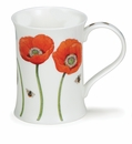 Dunoon Cotswold Floral Studies Poppy 11.1oz Mug