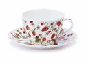 Dunoon Dovedale Strawberry Breakfast Cup and Saucer Set