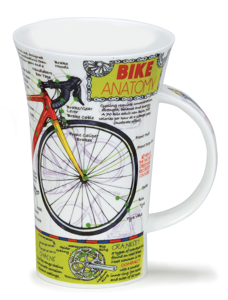 Dunoon Glencoe Bike Anatomy Mug 16.9oz $30.4, You Save $7.60