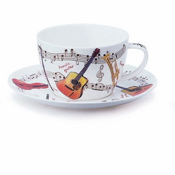 Dunoon Instrumental Breakfast Cup and Saucer Set