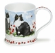 Dunoon Iona Garden Cats Black And White 13.5oz Mug