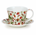 Dunoon Islay Dovedale Strawberry Cup & Saucer