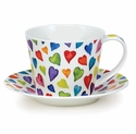 Dunoon Islay Warm Hearts Cup & Saucer