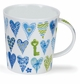 Dunoon Lomond Hearts Blue 10.8oz Mug
