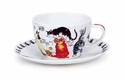 Dunoon Pussy Galore Breakfast Cup and Saucer Set