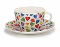 Dunoon Warm Hearts Breakfast Cup and Saucer Set