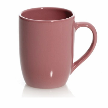 Dusty Rose 9 Ounce Coffee Mugs (4) by Hues and Brews