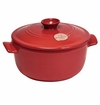 Emile Henry Burgundy Round Stewpot 2.6 Qt