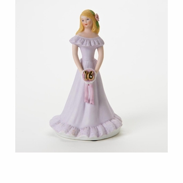 Enesco Growing Up Girls Blonde Age 16 Birthday Girl Figurine
