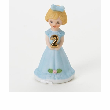 Enesco Growing Up Girls Blonde Age 2 Birthday Girl Figurine