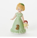 Enesco Growing Up Girls Blonde Age 3 Birthday Girl Figurine