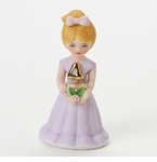 Enesco Growing Up Girls Blonde Age 4 Birthday Girl Figurine
