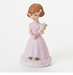 Enesco Growing Up Girls Brunette Age 5 Birthday Girl Figurine
