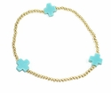 enewton Jewelry Mint Signature Cross Gold Bracelet Medium Bead