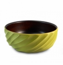 Enrico Mango Wood Avocado Green Spiral Salad Bowl
