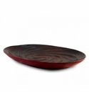 Enrico Mango Wood Chili Pepper Red Spiral Platter