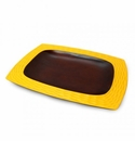 Enrico Mango Wood Sunflower Yellow Platter