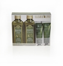 Erbario Toscano Olive Complex Bath Gel, Shampoo, Conditioner, & Hand Cream Set