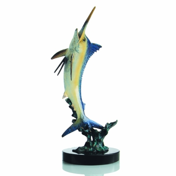 Excited Blue Marlin Sculpture by SPI Home