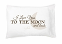 Faceplant Dreams I Love You To The Moon and Back Pillowcase Pair