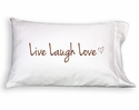 Faceplant Live Laugh Love Standard Pillow Case