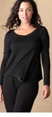 Faceplant Long Sleeve Pajama Shirt Black Small