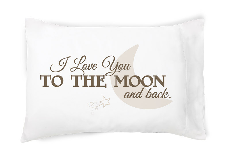 Faceplant Pillowcases Adorable Faceplant Dreams I Love You To The Moon And Back Pillowcase Pair