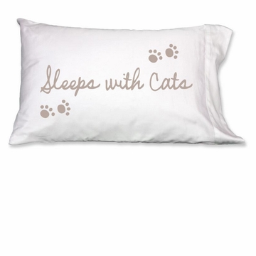 Faceplant Sleeps With Cats Standard Pillow Case