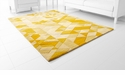 Facets Gold Rug Polyester Gold 7.6'x5' by Cyan Design
