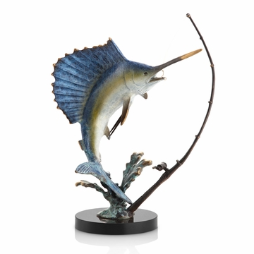 Fighting Sailfish with Tackle Sculpture by SPI Home