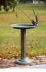 Fishing Frog Sundial Birdbath by SPI Home