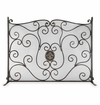 Fleur De Lis And Mesh Fireplace Screen by SPI Home