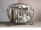 Fleur De Lis Magazine Holder Bronze Iron with Brass M Home Decor