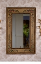 Floral Painted Mirror Home Decor