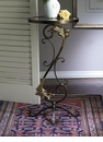 Florence ?Table Bronze Iron with Brass Medallions Home Decor