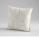 Flow Silver Decorative Pillow by Cyan Design