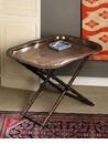 Folding Bamboo Iron Tray Stand (Tray Sold Seperately) Home Decor