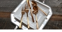 Fortessa Arezzo Rose Gold 20pc Flatware Set