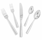 Fortessa Stainless Steel Flatware Ringo 5 Piece Place Setting
