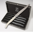 Fortessa Stainless Steel Provencal Blonde Handle Steak Knife  4 Piece Set in box