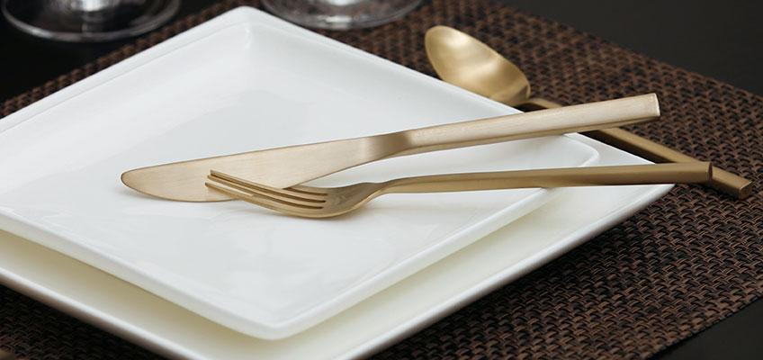 Fortessa Titan Arezzo Brushed Gold 5pc Place Setting Boxed 60 You