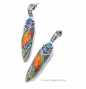 Franz Collection Beetle Design Earrings