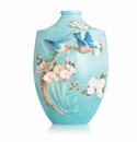 Franz Collection Bluebird on Apple Tree Large Vase (Limited Edition 999)