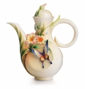 Franz Collection Fluttering Beauty Flower and Butterfly Teapot