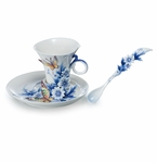 Franz Collection Forever Wedding Collection Porcelain Cup, Saucer & Spoon Set