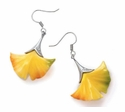 Franz Collection Ginkgo Design Earrings