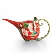 "Franz Collection Hibiscus ""Island Beauty"" Teapot"