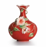 "Franz Collection Hibiscus ""Island Beauty"" Vase"