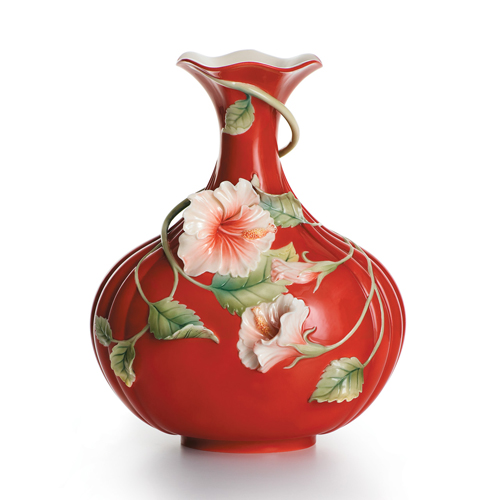 Franz Collection Hibiscus Island Beauty Vase