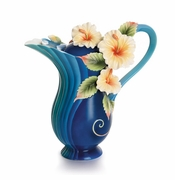 Franz Collection Island Hibiscus Flower Porcelain Teapot